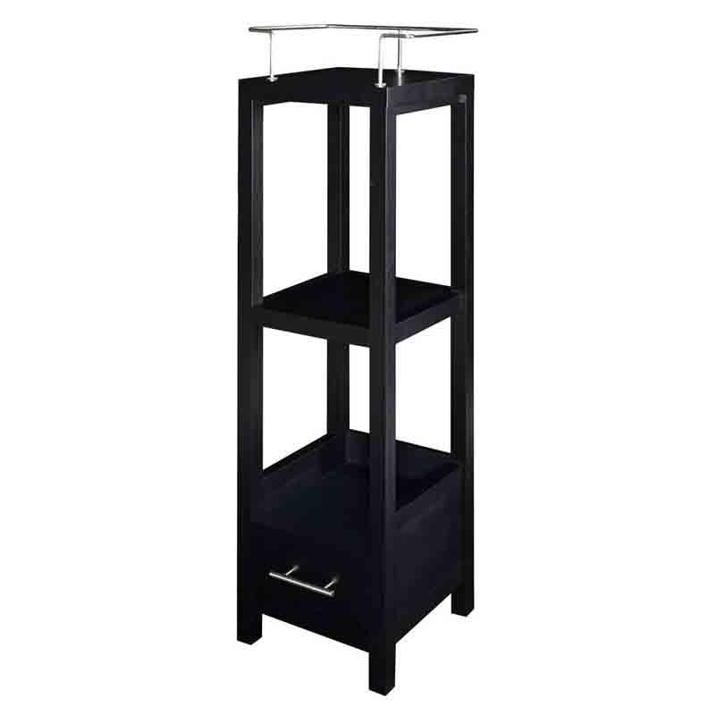 Linon BA008BLK01 Hoover Black Tall Storage Cabinet from Linon