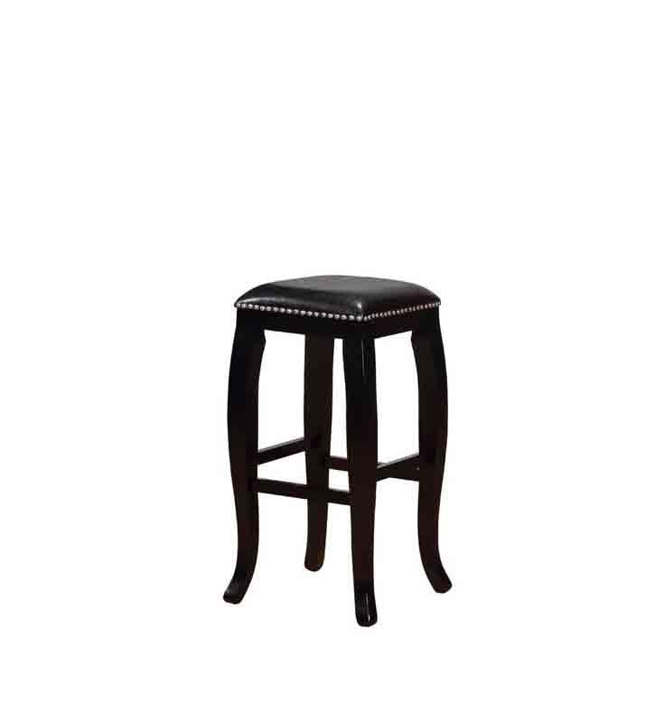 Linon BS045BLK01U Scottish Black Square Top Bar Stool from Linon