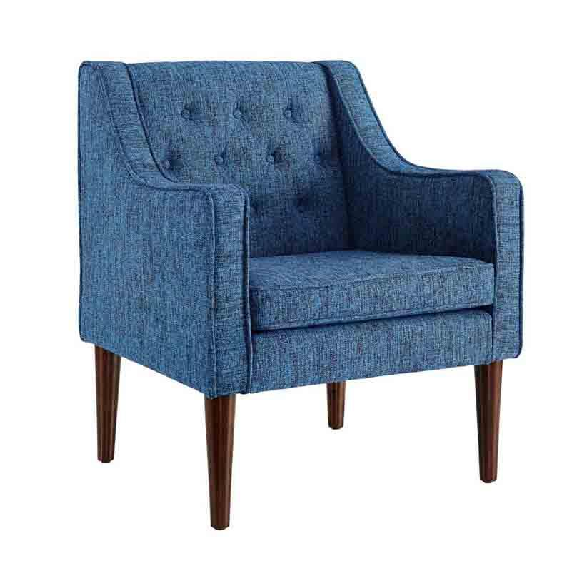 Linon CH069DBLU01U Noda Dark Blue Tufted Back Chair from Linon