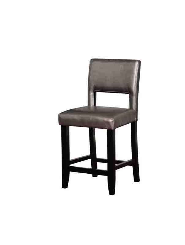 Linon CS035PWTR01U Velma Pewter Counter Stool from Linon