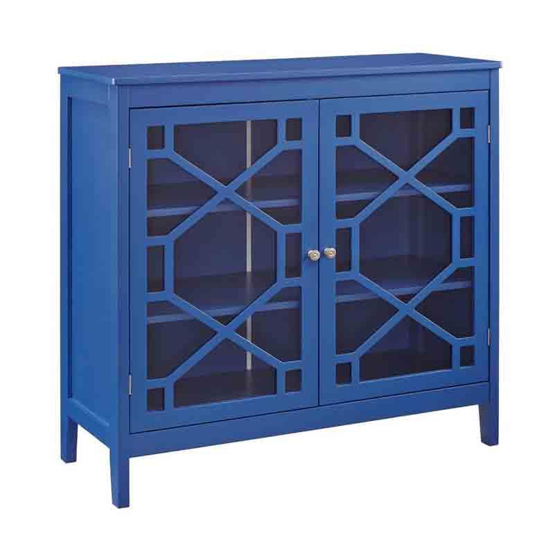 Linon FT116BLU01U Felicia Blue Large Cabinet from Linon