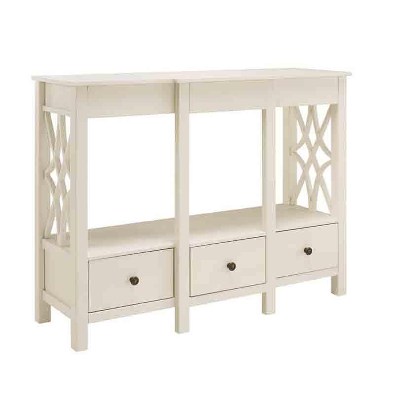 Linon WM127WHT01U Whitley Antique White Tv Stand from Linon