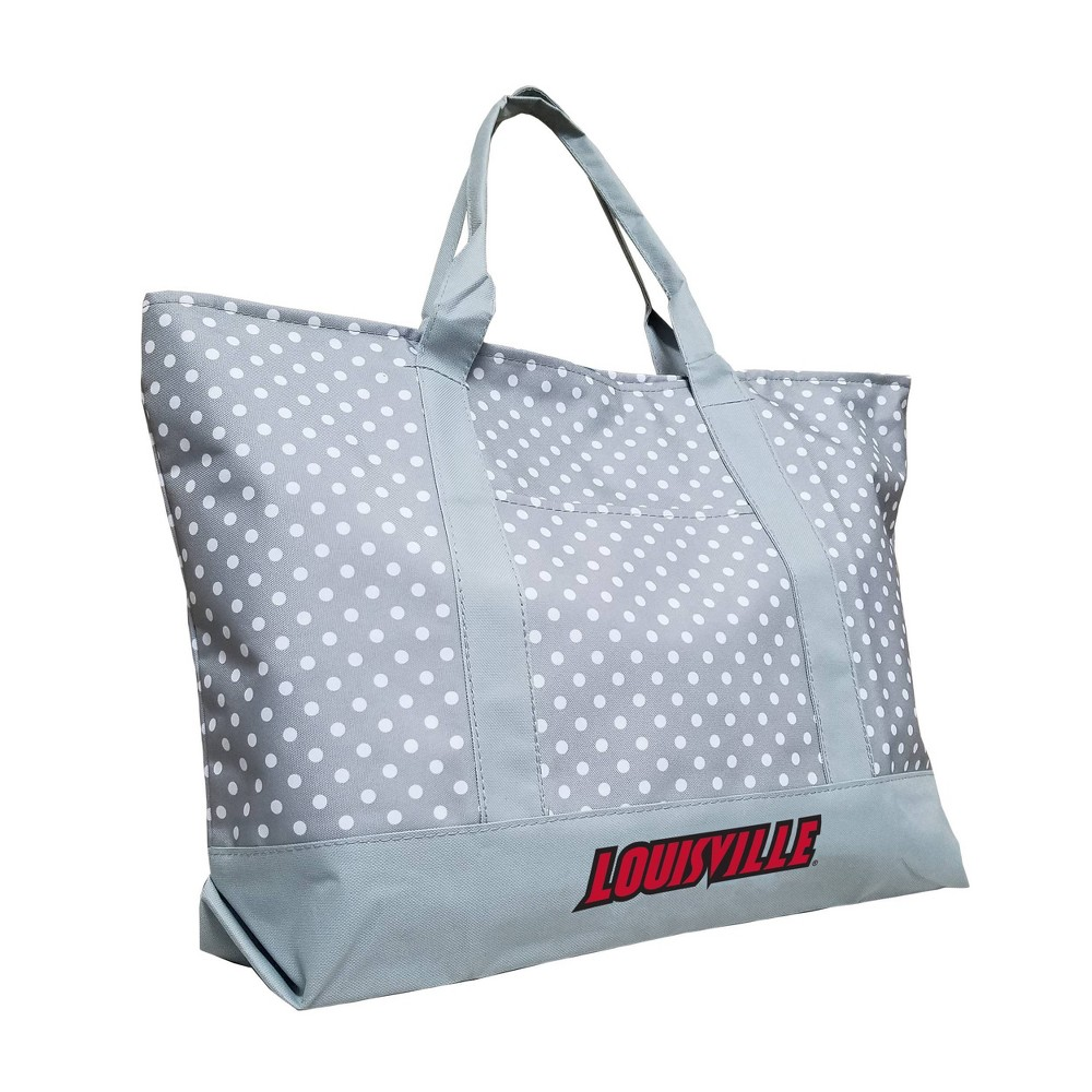 NCAA Louisville Cardinals Dot Tote, Gray from Logo Brands