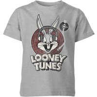 Looney Tunes Bugs Bunny Circle Logo Kids' T-Shirt - Grey - 9-10 Years - Grey from Looney Tunes