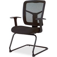 Lorell ErgoMesh Series Mesh Side Arm Guest Chair from Lorell