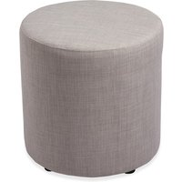 Lorell Fabric Cylinder Ottoman from Lorell