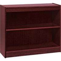 Lorell Panel End Hardwood Veneer Bookcase from Lorell