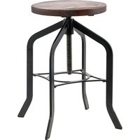 Lorell Wood Seat Industrial Swivel Stool from Lorell