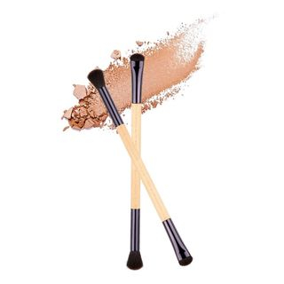 Dual Head Woodle Handle Eyeshadow Brush As Shown In Figure - One Size from Louree