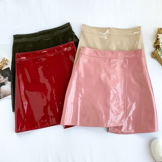 Patent Mini Skirt from Lucuna