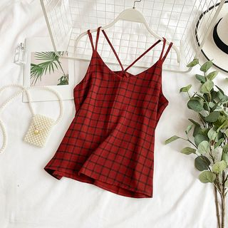 Plaid Camisole Top from Lucuna