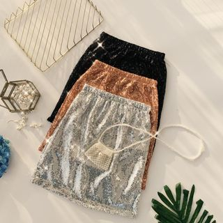Sequined Mini Skirt from Lucuna