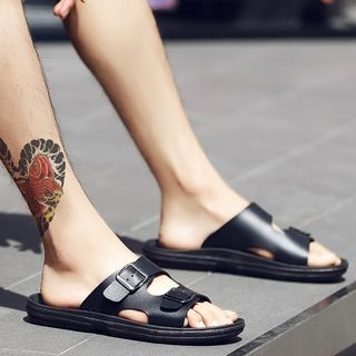 Buckled Slide Sandals from MARTUCCI