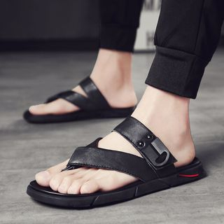 Faux Leather Flip-Flops from MARTUCCI