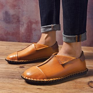 Genuine Leather Stitched Casual Shoes from MARTUCCI