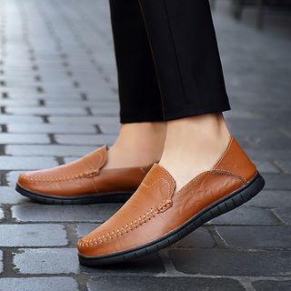 Genuine Leather Stitched Moccasins from MARTUCCI