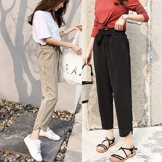 Drawstring Cropped Pants from MAVIS
