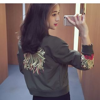 Embroidered Bomber Jacket from MAVIS