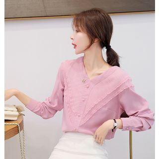 Long-Sleeve Chiffon Paneled Top from MAVIS