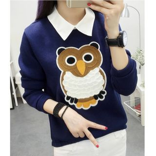 Owl Embroidered Sweater from MAVIS
