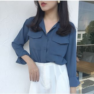 Pocket Chiffon Shirt from MAVIS