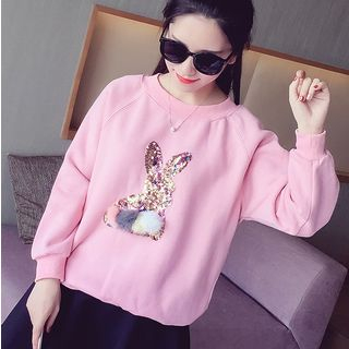Sequined Rabbit Sweatshirt from MAVIS