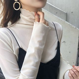 Turtleneck Long-Sleeve T-Shirt from MAVIS