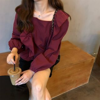 Ruffle Trim Blouse from MIKIGA