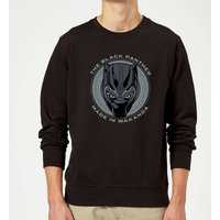 Black Panther Made in Wakanda Sweatshirt - Black - L - Black from Marvel