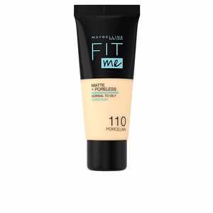 FIT ME MATTE+PORELESS foundation #110-porcelaine from Maybelline