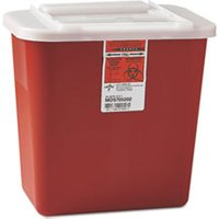 Sharps Container, Freestanding/Wall Mountable, 8qt, 23 1/2 x 19 7/10 x 28, Red from Medline