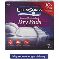 Ultrasorbs Disposable Dry Pads, 23 x 35, Blue, 7/Box from Medline