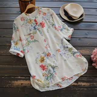 Flower Embroidered Blouse from Melbie