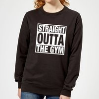 Straight Outta the Gym Women's Sweatshirt - Black - 5XL - Black from Mens Slogan Collection