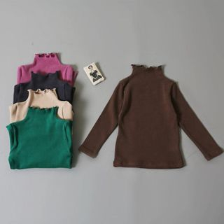 Kids Turtleneck Long-Sleeve T-Shirt from Meroboz