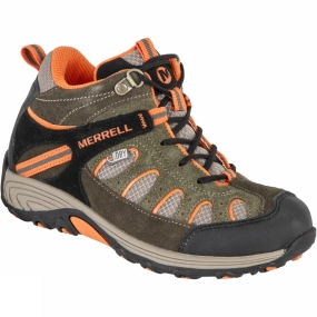 Kids Chameleon Mid Lace Waterproof Boot from Merrell