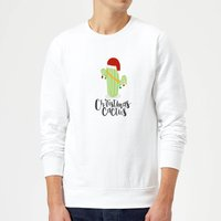 Christmas Cactus Sweatshirt - White - M - White from The Christmas Collection