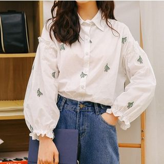 Cactus Embroidered Shirt from Miahynn