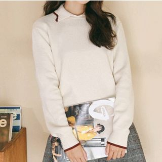 Collared Sweater Almond - One Size from Miahynn