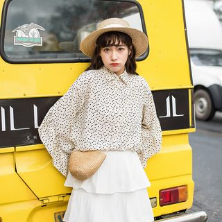 Dotted Chiffon Shirt from Miahynn