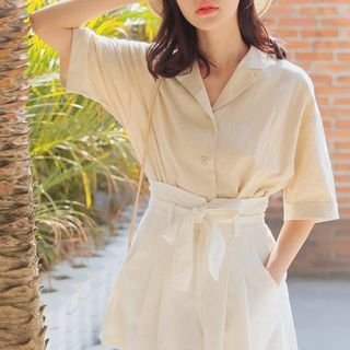 Elbow-Sleeve Shirt from Miahynn