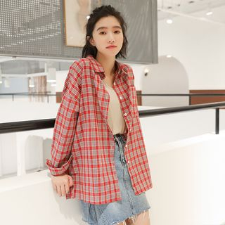 Long Sleeve Plaid Shirt from Miahynn