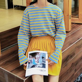 Long-Sleeve Striped T-Shirt from Miahynn