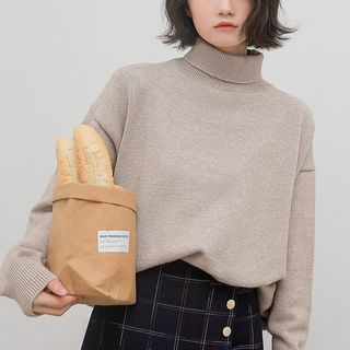 Plain Turtleneck Sweater from Miahynn