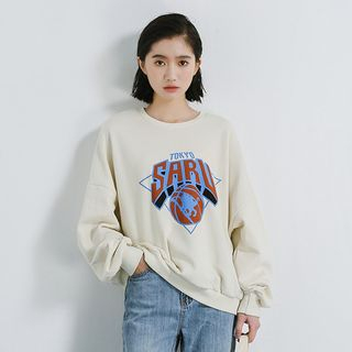 Print Sweatshirt As Shown In Figure - One Size from Miahynn