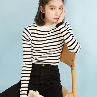 Striped Long Sleeve Knit Top from Miahynn