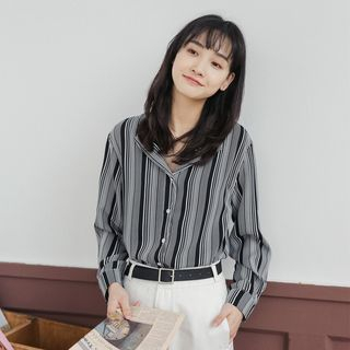 Striped Shirt Black - One Size from Miahynn