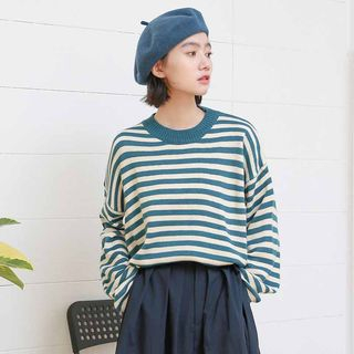 Striped Sweater Stripes - Blue - One Size from Miahynn