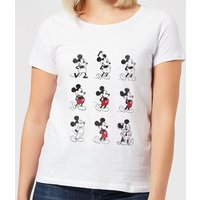 Disney Mickey Mouse Evolution Nine Poses Women's T-Shirt - White - XXL - White from Mickey Mouse