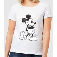 Disney Mickey Mouse Walking Women's T-Shirt - White - XXL - White from Mickey Mouse